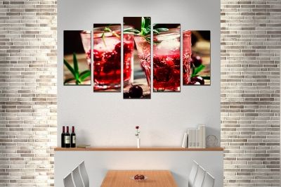 Art canvas decoration for wall with Fresh cocktails