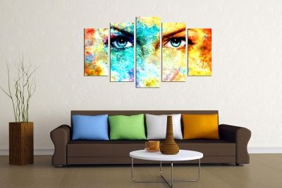 Canvas art for home decoration beautiful abstract eyes