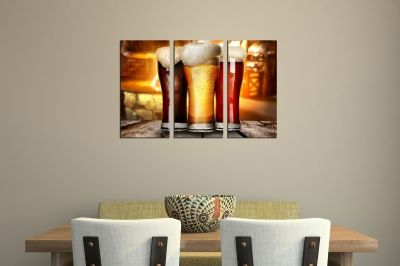 Wall art panels for night club with beers