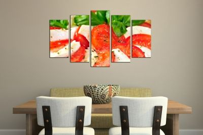 Art canvas decoration with Caprese Salad
