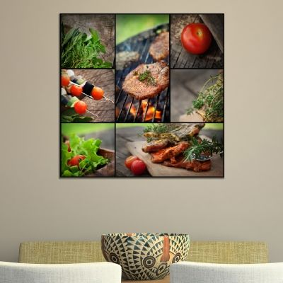 Canvas wall art for restaurant