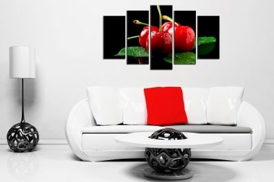 Art canvas decoration cherries