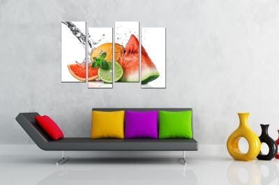 Wall  decoration for kitchen with fresh fruits