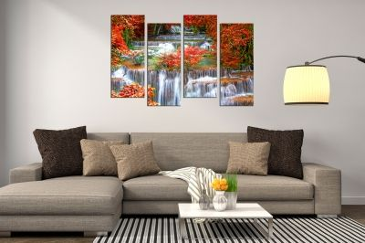 Wall  decoration for living room Landscape with waterfall