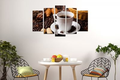 Art canvas decoration coffee