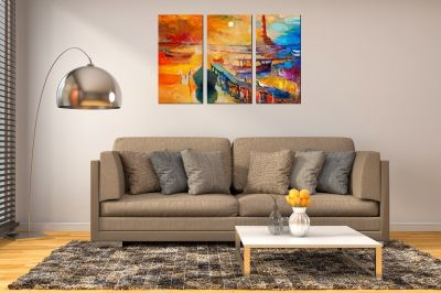 Wall art canvas set reproduction oil painting sea landscape