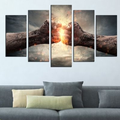 5 pieces home wall decoration Collision