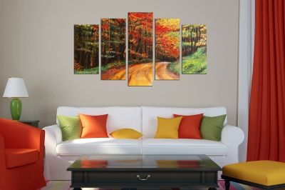 Art canvas decoration - reproduction colorful landscape