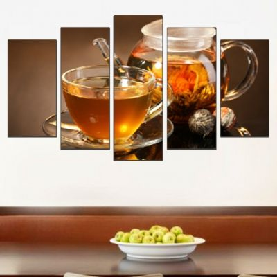 0544 Wall art decoration (set of 5 pieces) Tea