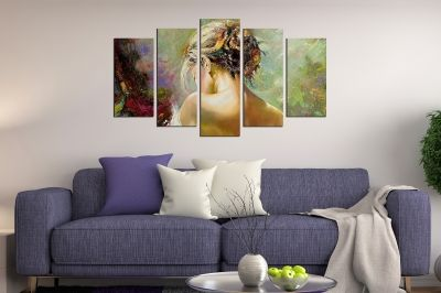 Art canvas decoration - reproduction beautiful girl