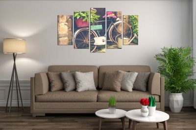 Canvas wall art decoration Vintage bicicle