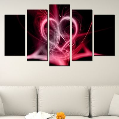 Abstract hert canvas art for bedroom