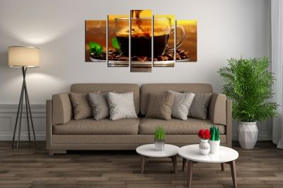 Art canvas decoration aromatic coffee