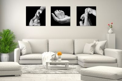 canvas set black and white true love