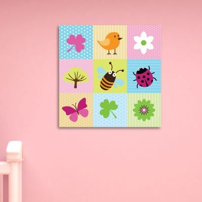 0068  Wall art decoration Funny flowers and animals