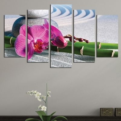 0585 Wall art decoration (set of 5 pieces) Zen composition