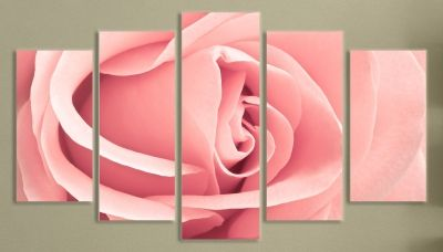 Pink rose wall art decoration