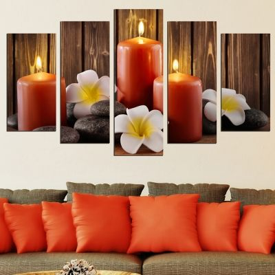 0615 Wall art decoration (set of 5 pieces) Zen composition