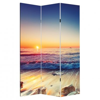 P0531 Decorative Screen Room devider On the beach (3,4,5 or 6 panels)