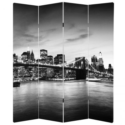P0157 Decorative Screen Room devider New York, Brooklyn Bridge (3,4,5 or 6 panels)