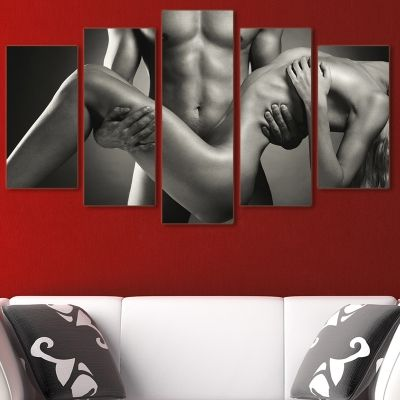 0076 Wall art decoration (set of 5 pieces) Naked bodies