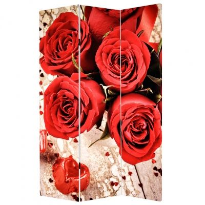 P0159 Decorative Screen Room divider Red roses (3,4,5 or 6 panels)