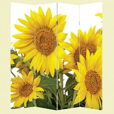 P0204 Decorative Screen Room divider Sunflowers (3,4,5 or 6 panels)