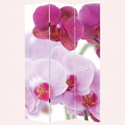 P0099 Decorative Screen Room divider Beautiful orchids (3,4,5 or 6 panels)