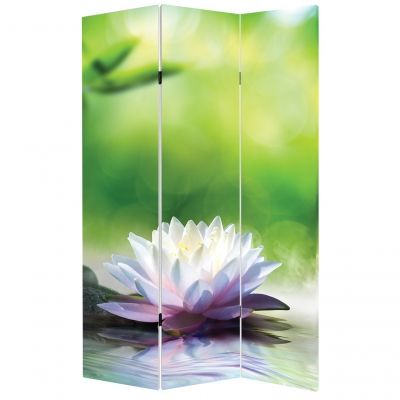 P0519 Decorative Screen Room divider Zen composition in green (3,4,5 or 6 panels)