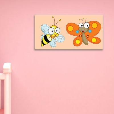 0080 Kids Wall art decoration Bee and butterfly