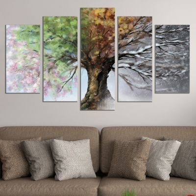 0168 Wall art decoration (set of 5 pieces) Seasons