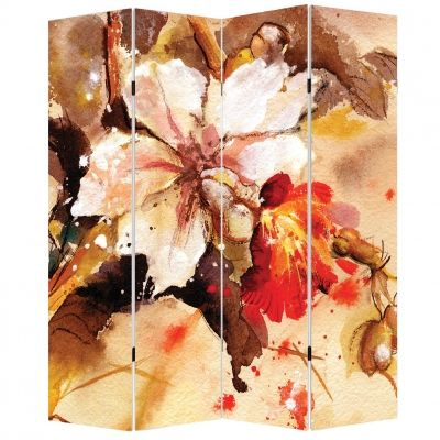 P0131 Decorative Screen Room divider Art flower (3,4,5 or 6 panels)