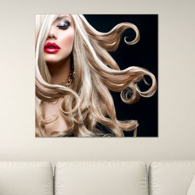 0468_1 Wall art decoration Blond hair