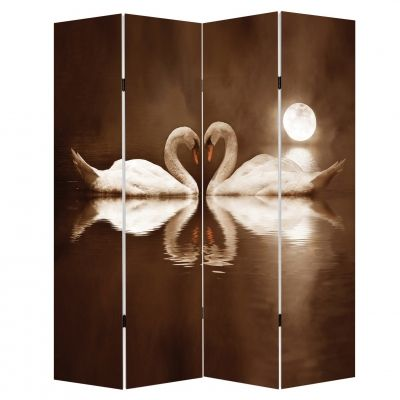 P0118 Decorative Screen Room divider Swans (3,4,5 or 6 panels)