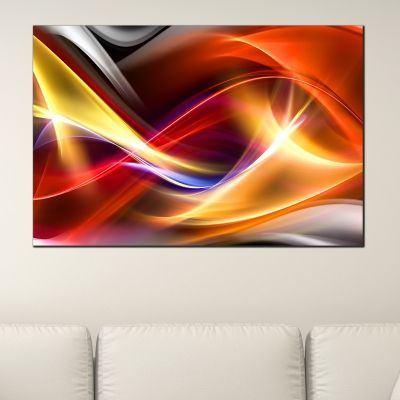 0280_1 Wall art decoration Color waves
