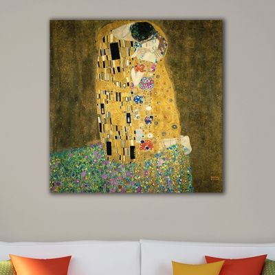 R001 The Kiss 2 - Gustav Klimt