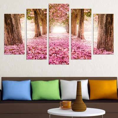 0678 Wall art decoration (set of 5 pieces) Fabulous park
