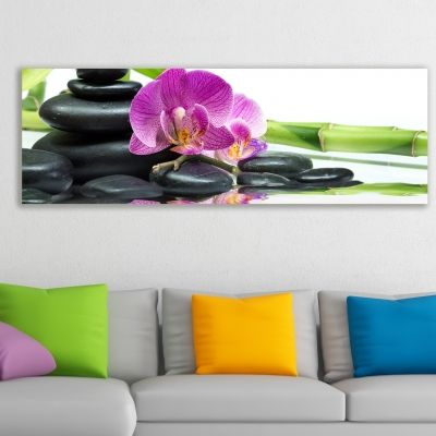 0102_1 Wall art decoration SPA - purple orchid