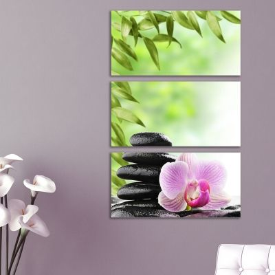 canvas wall art with orchid