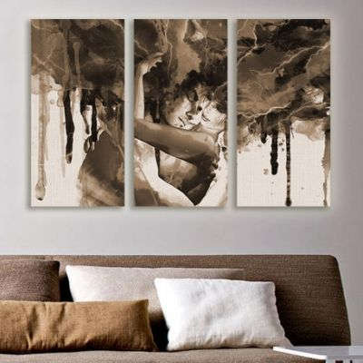 0091 Wall art decoration (set of 3 pieces)  Love hug