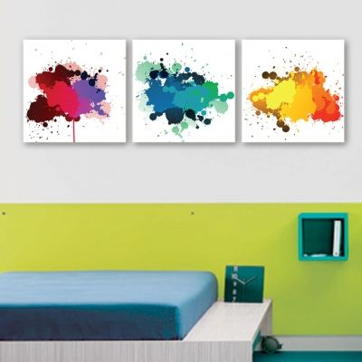 0088 Wall art decoration (set of 3 pieces) Color spots