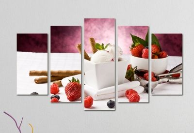 Wall art decoration with ice cream