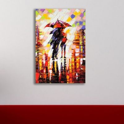 0017 Wall art decoration Couple in love under umbrella