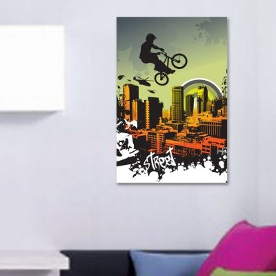 0082 Wall art decoration Bicycler