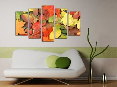 Canvas wall art decoration set of 5 parts