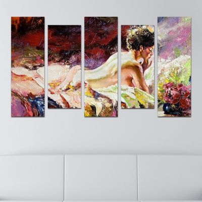 0004 Wall art decoration (set of 5 pieces) Fabulous beauty