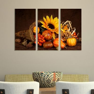 0119 Wall art decoration (set of 3 pieces) Home atmosphere