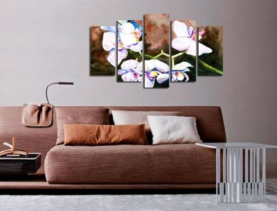 Art decoration for wall with orchids