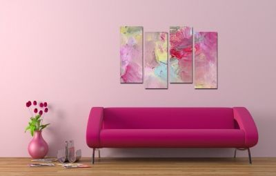 Wall art decoration set Stylish rose