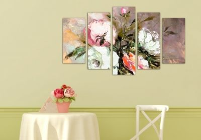 home wall art canvas with flowers